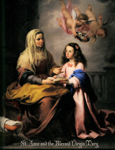 the virgin and st anne with Good st anne st anne, the beloved mother of our lady and grandmother of our lord, has proved herself a heavenly helper in every need she is especially invoked as patroness of mothers, comfort of the sorrowing, mother of the poor, health of the sick, patroness of the childless, help of the pregnant, model of married women and.