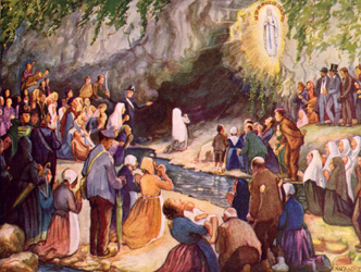 Image result for our lady of lourdes and st bernadette